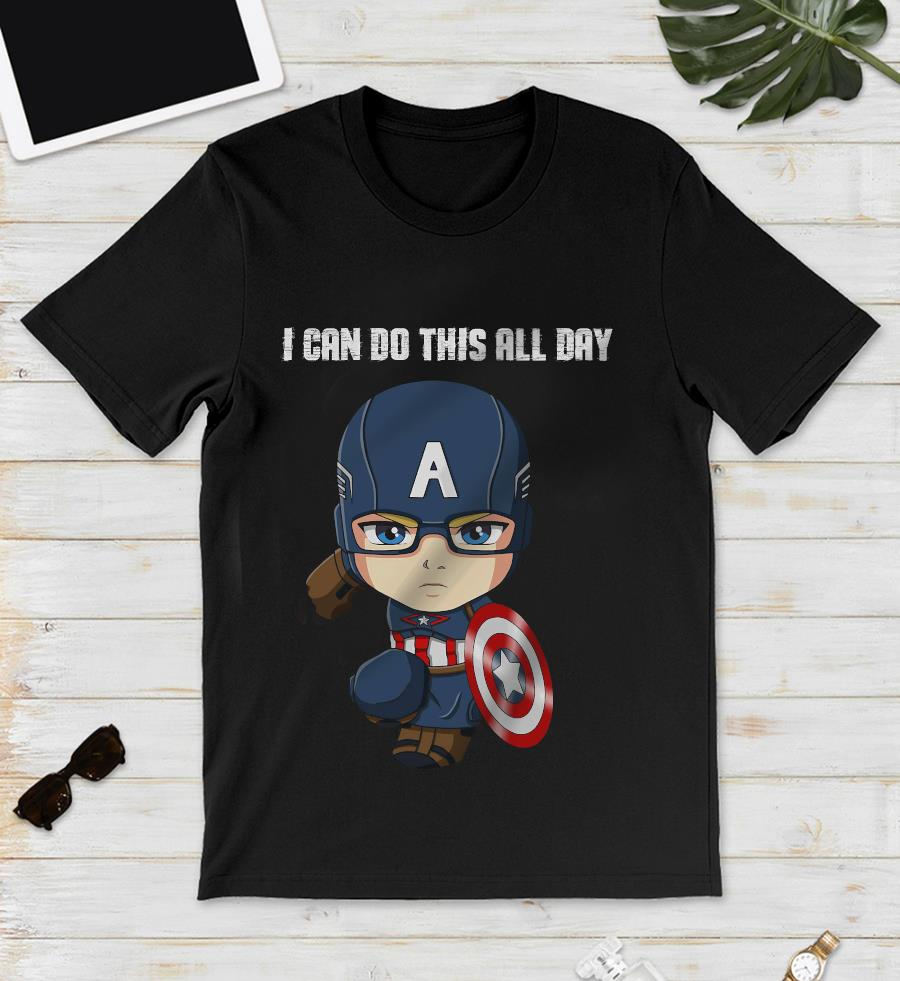 Baby Captain American I can do this all day unisex t-shirt