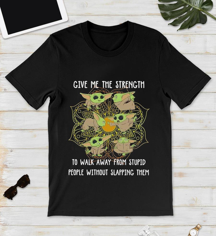 Baby Yoda yoga give me the strength t-s unisex