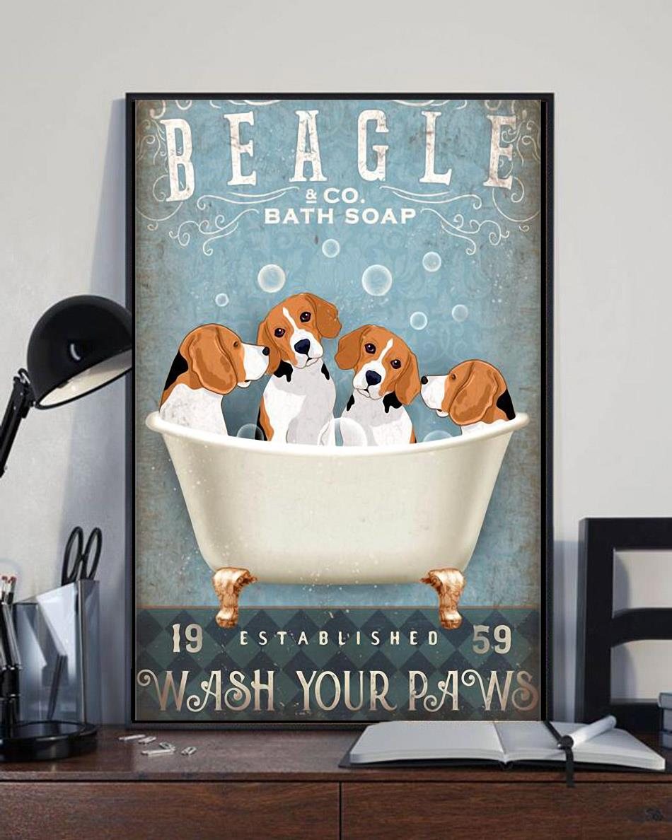 Beagle co bath soap wash your paws wrapped canvas full size