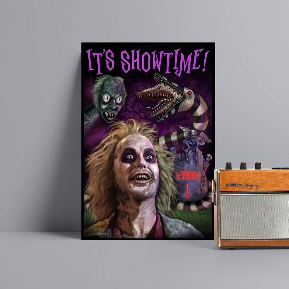 Beetlejuice its showtime poster canvas black