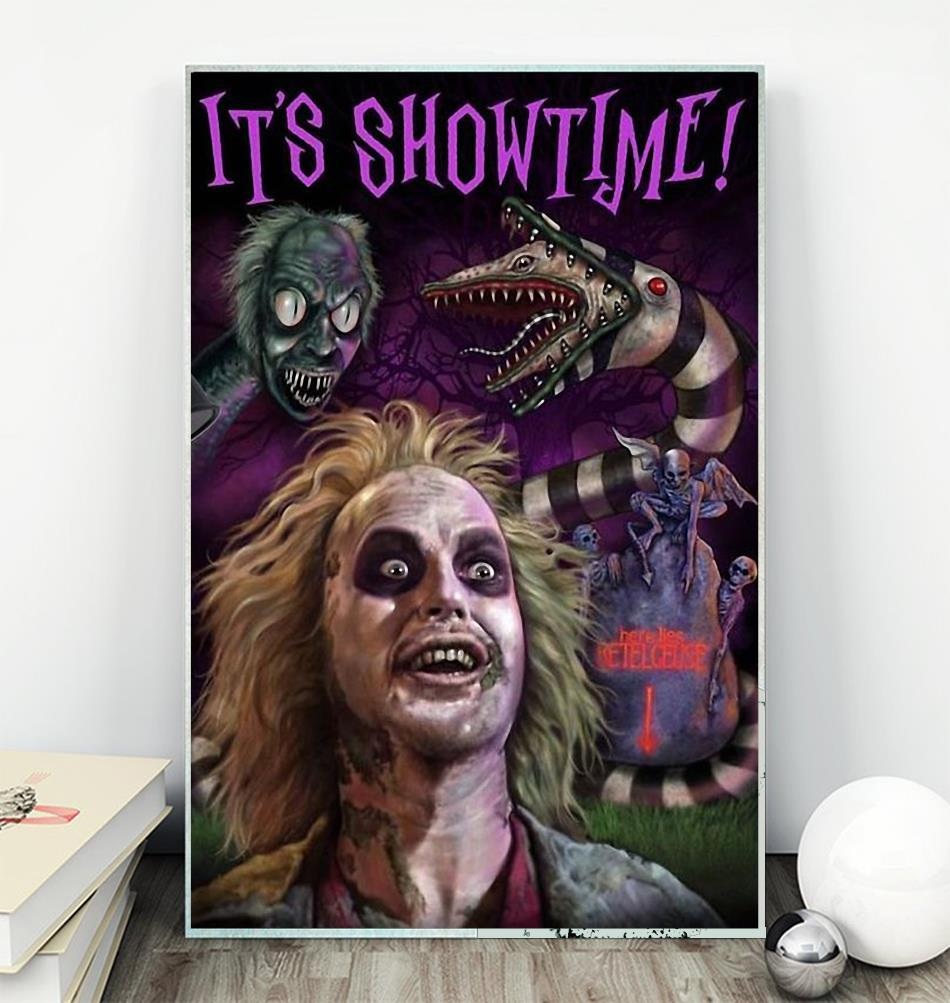 Beetlejuice its showtime poster canvas wall
