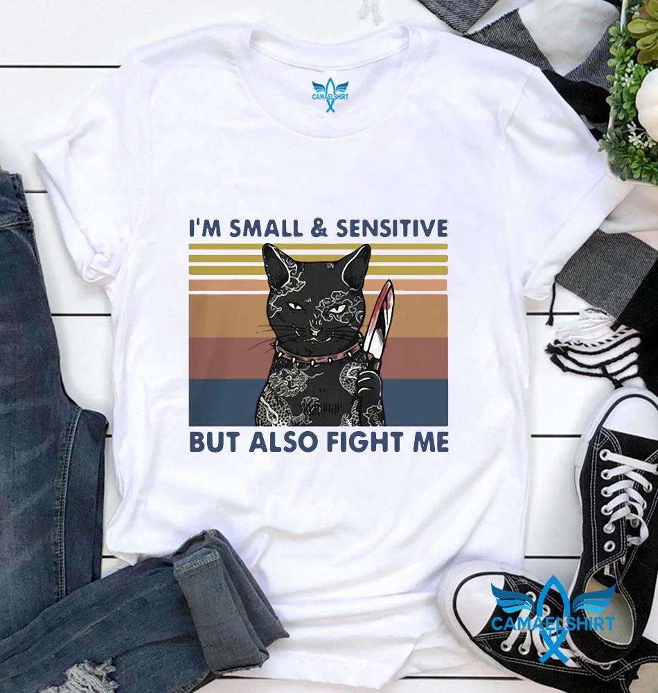 Black cat zakuza Im small & sensitive but also fight me vintage retro