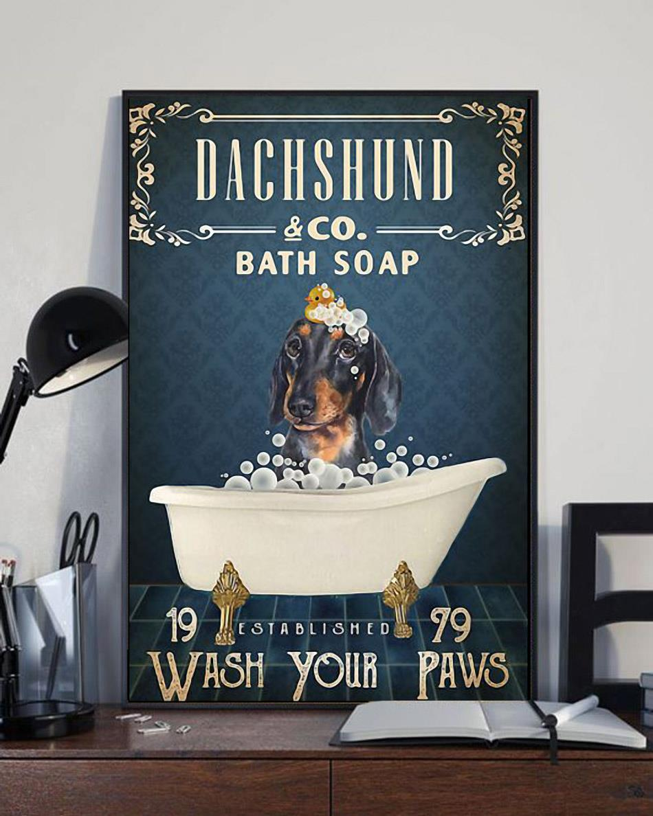 Dachshund co bath soap wash your paws wrapped canvas full size