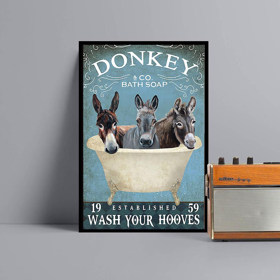 Donkey bath soap wash your hooves wrapped canvas black