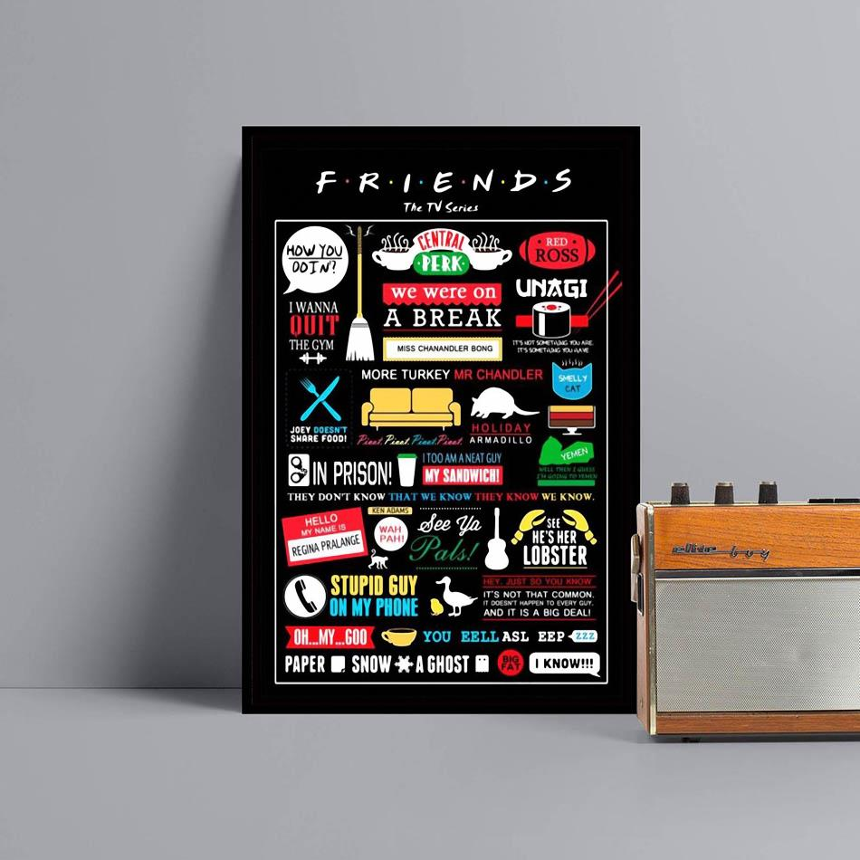Friends The TV series poster canvas black
