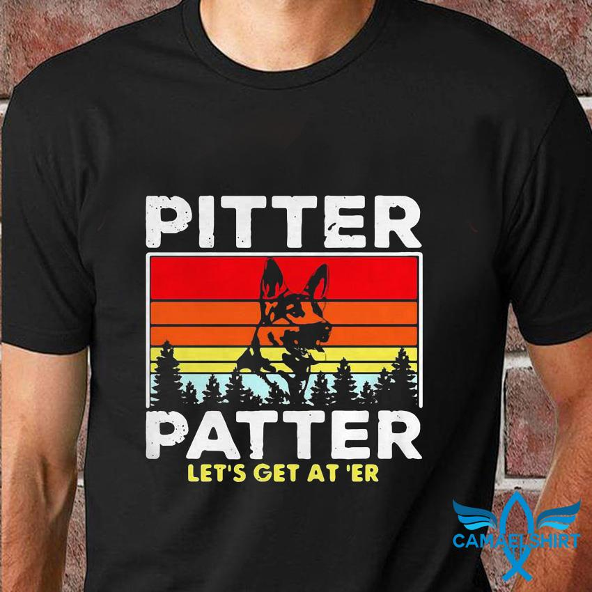 German Shepherd pitter patter lets get at er vintage retro