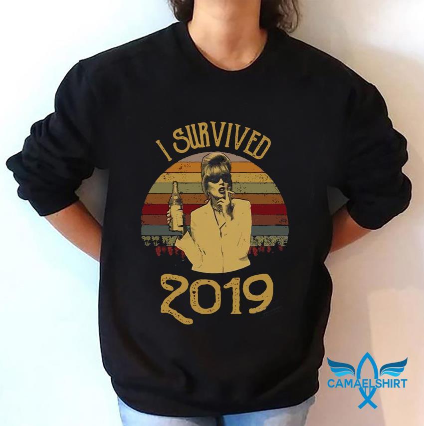 I survived 2019 absolutely fabulous Patsy Stone retro t-s sweatshirt