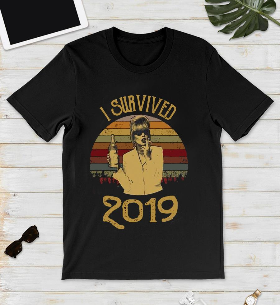 I survived 2019 absolutely fabulous Patsy Stone retro t-s unisex t-shirt