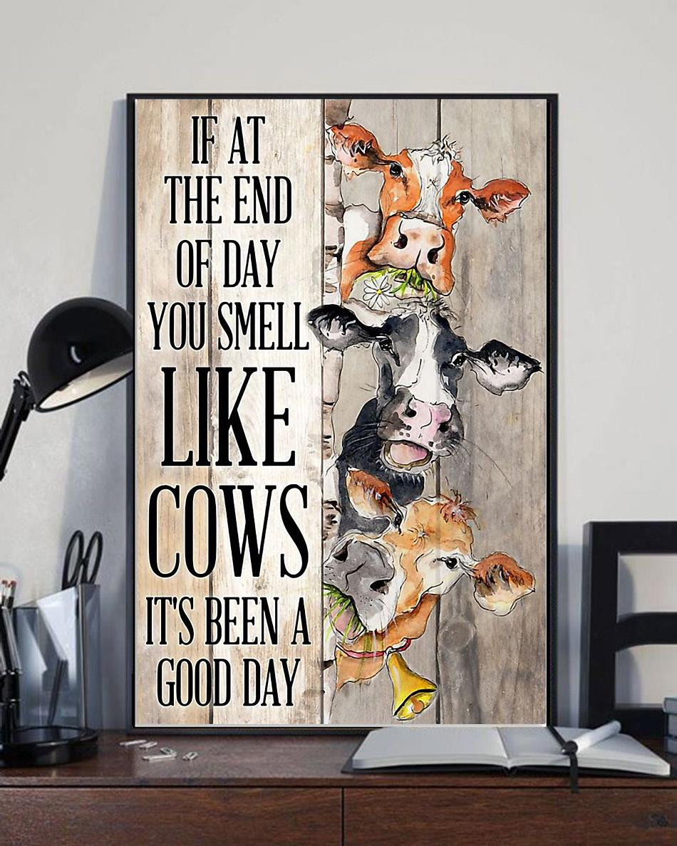 If at the end of day you smell like cows wrapped canvas full size
