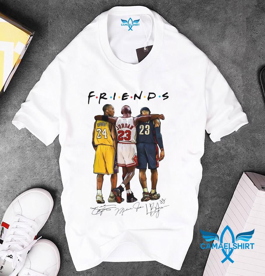 Kobe Bryant Michael Jordan friends signature unisex t-shirt