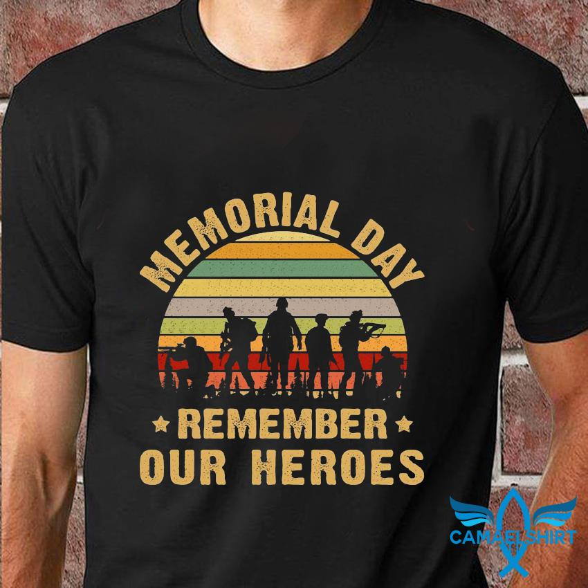 Memorial day remember our heroes vintage