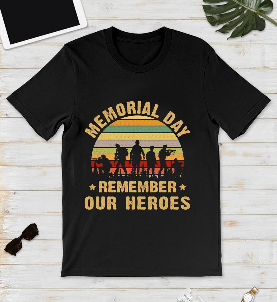 Memorial day remember our heroes vintage unisex t-shirt