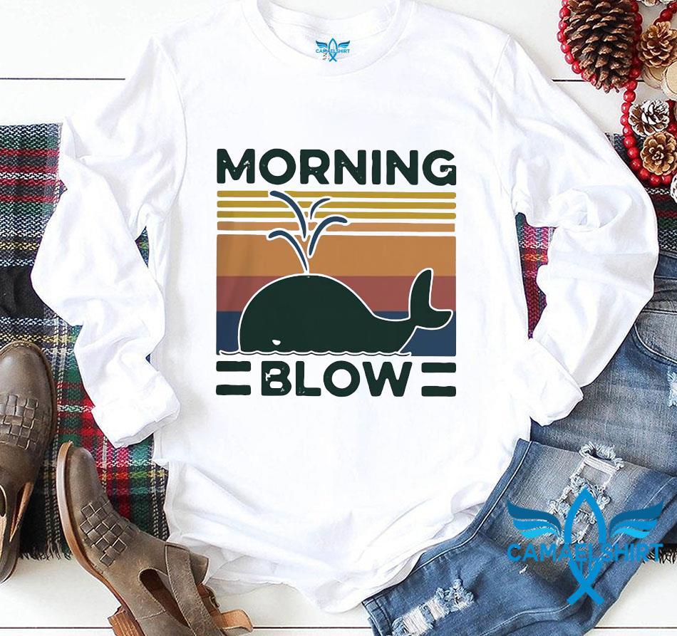 Morning blow dolphin vintage retro longsleeve