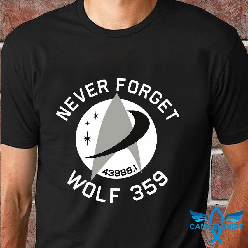 Never forget 439891 wolf 359 t-shirt