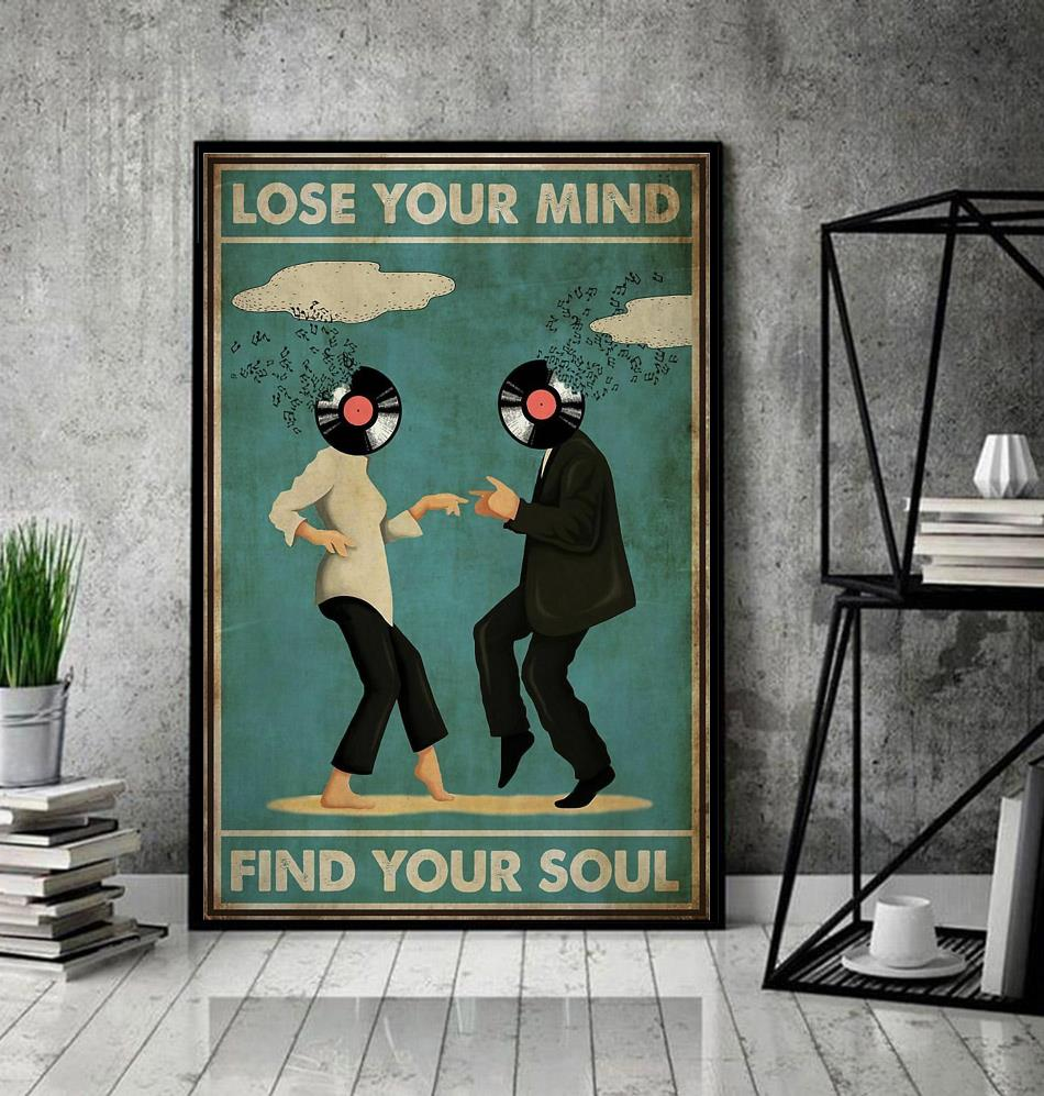 Pulp Fiction lose your mind find your soul poster canvas