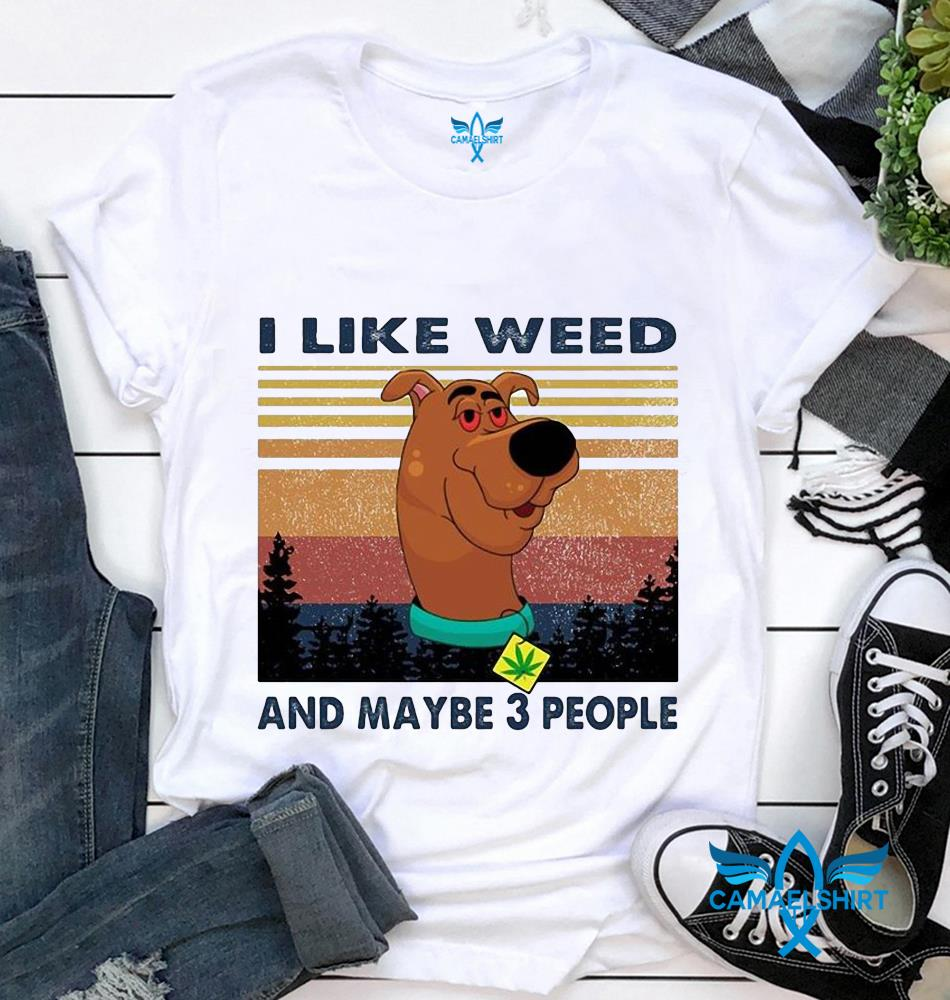 Scooby Doo I like weed and maybe 3 people vintage t-shirt