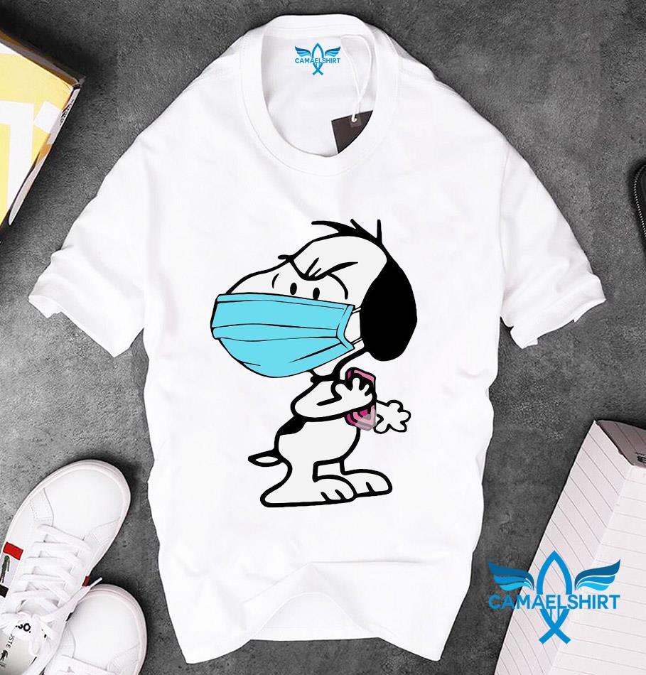 Snoopy face mask quarantined 2020 unisex t-shirt