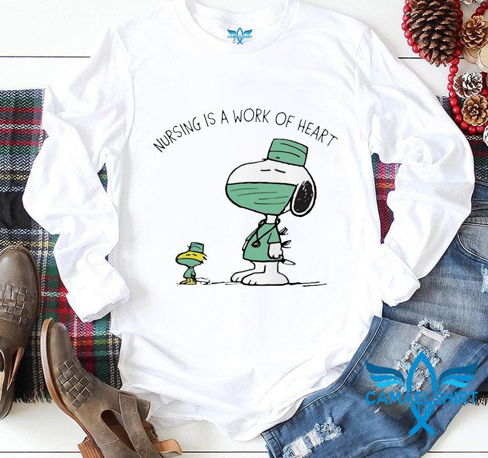 Snoopy Woodstock nursing is a work of heart quarantine t-s longsleeve