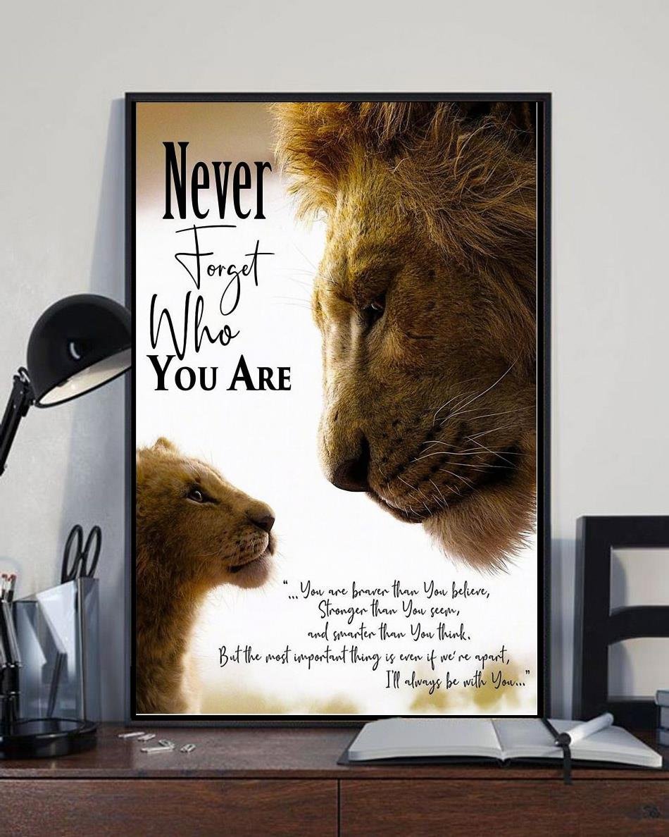 The Lion king Never forget who you are wall canvas full size