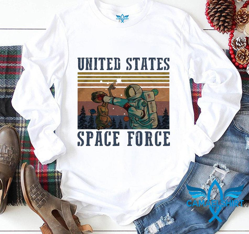 United States Space Force classic vintage retro t-s longsleeve