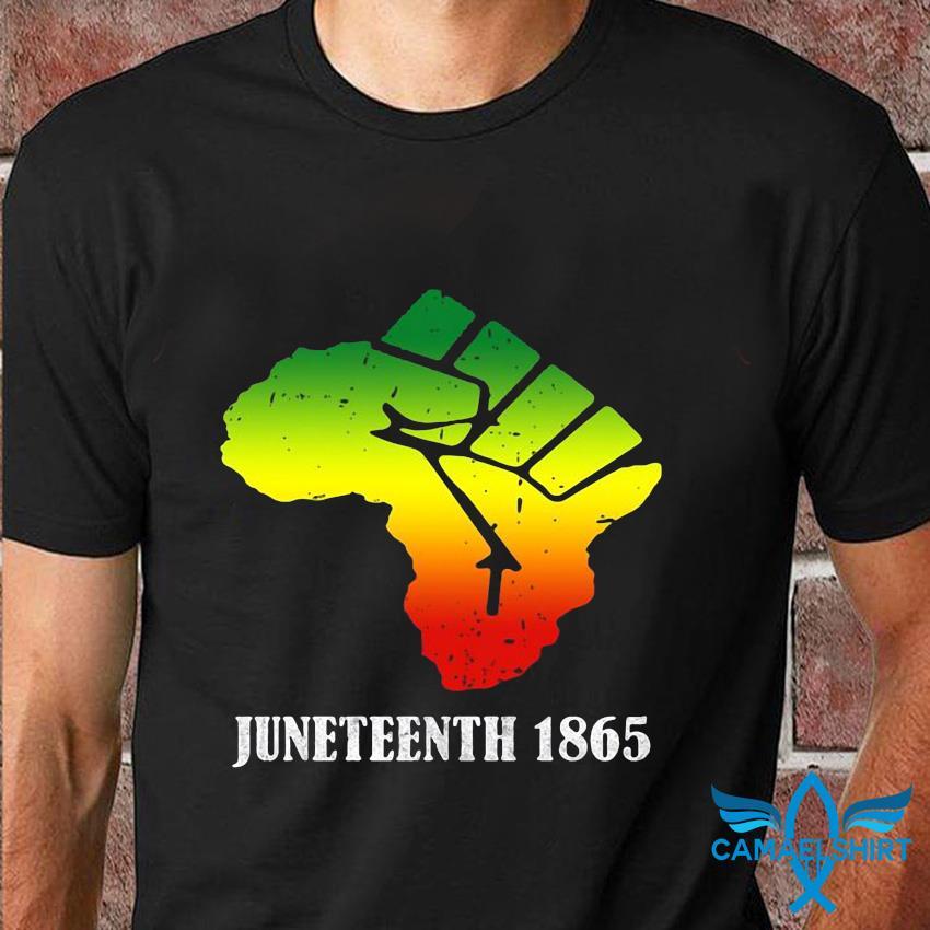 Africa Black Lives Matter Juneteenth 1865 t-shirt