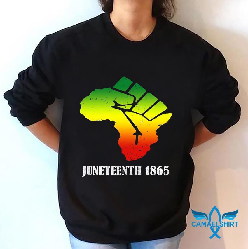 Africa Black Lives Matter Juneteenth 1865 t-s sweatshirt