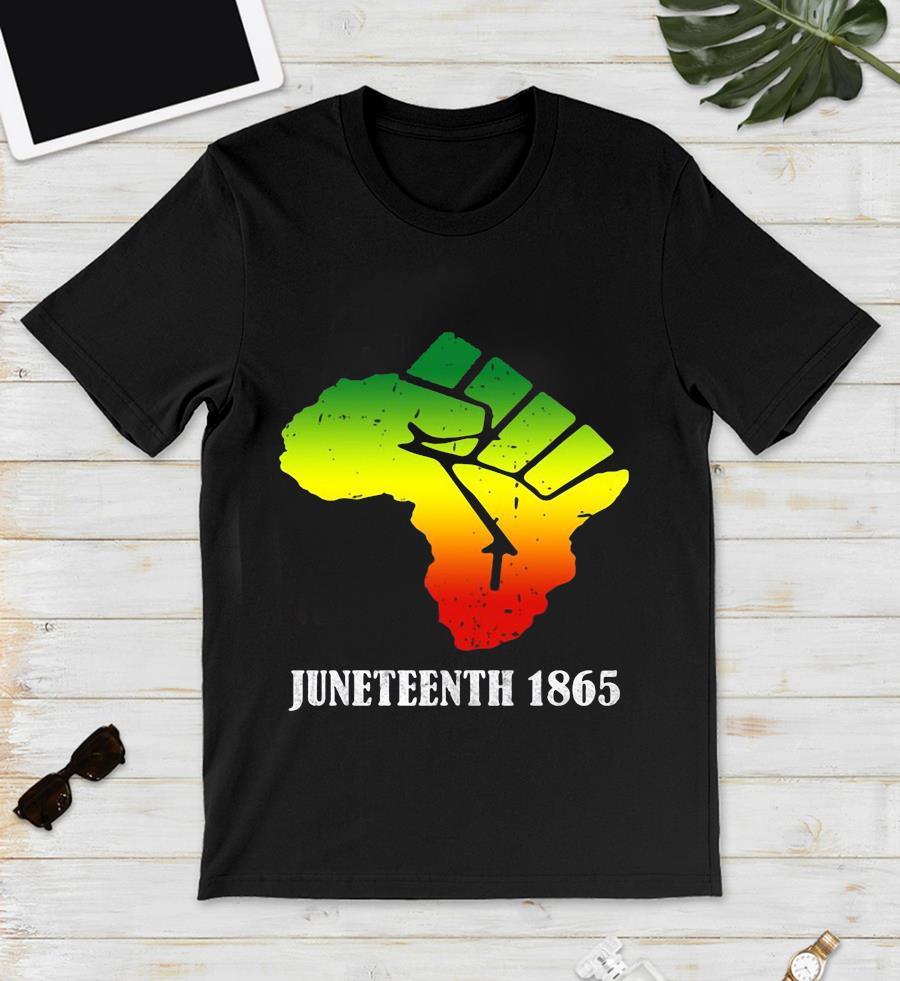 Africa Black Lives Matter Juneteenth 1865 t-s unisex