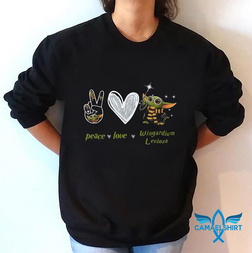 Baby Yoda peace love wingardium leviosa t-s sweatshirt