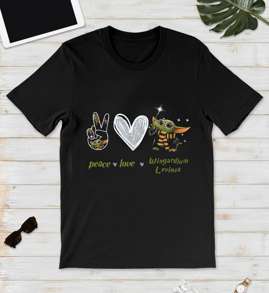 Baby Yoda peace love wingardium leviosa t-s unisex