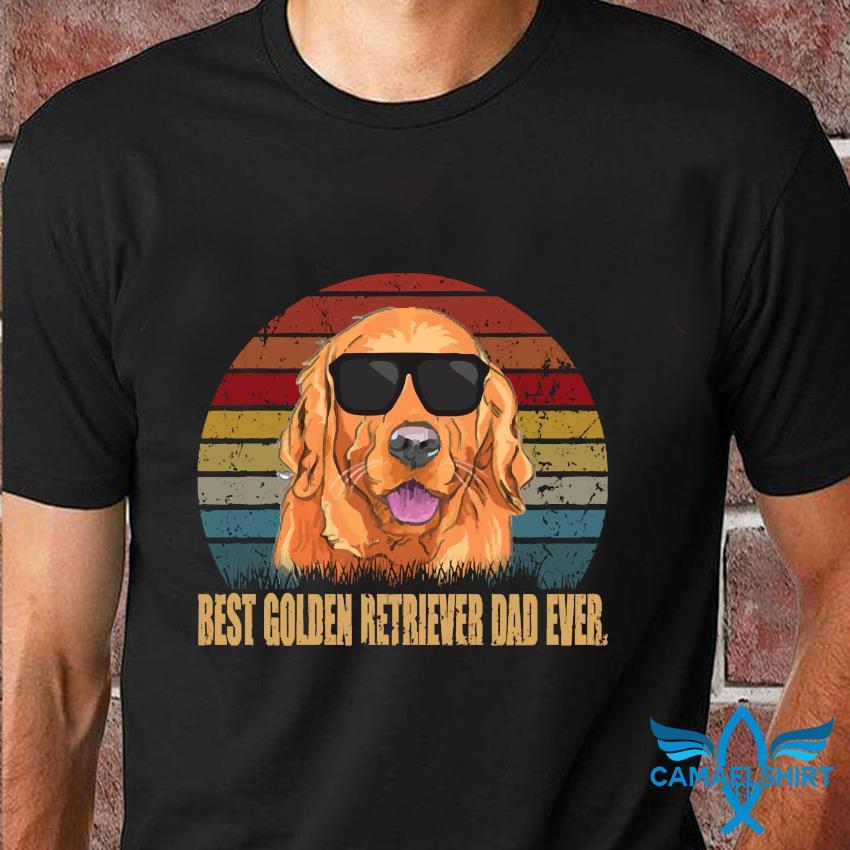 Best Golden Retriever dad ever shirt vintage t-shirt