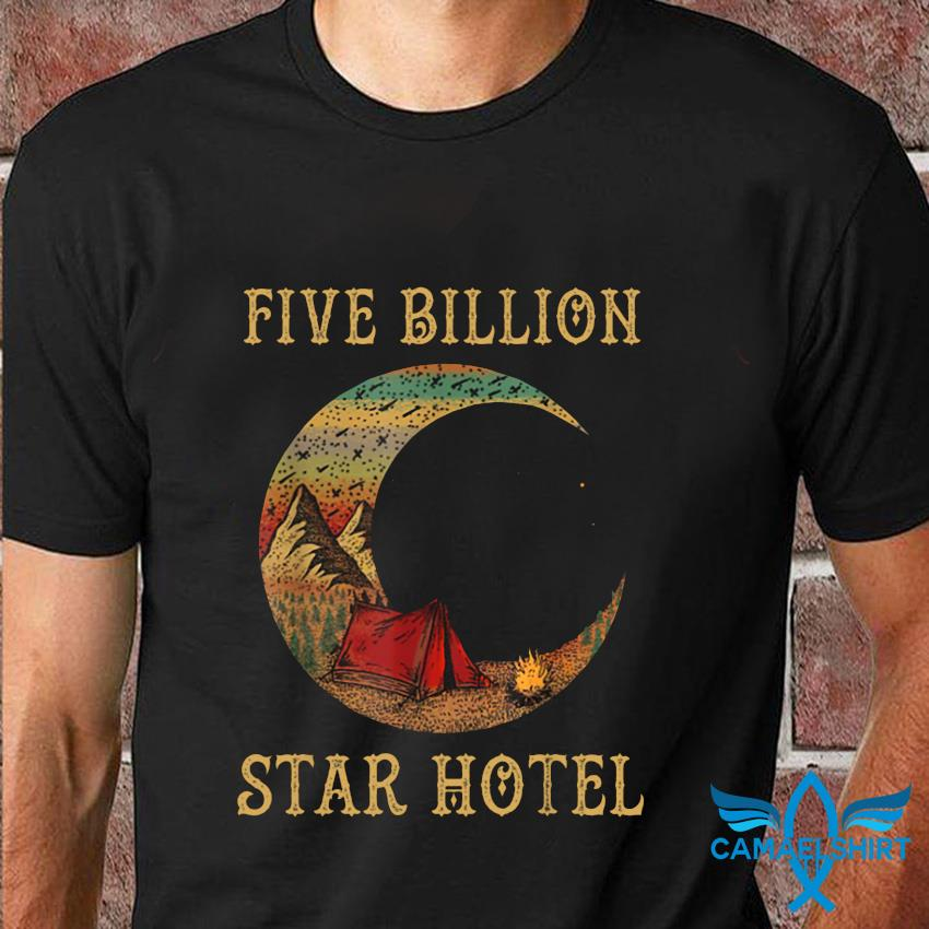 Campfire five billion star hotel retro t-shirt