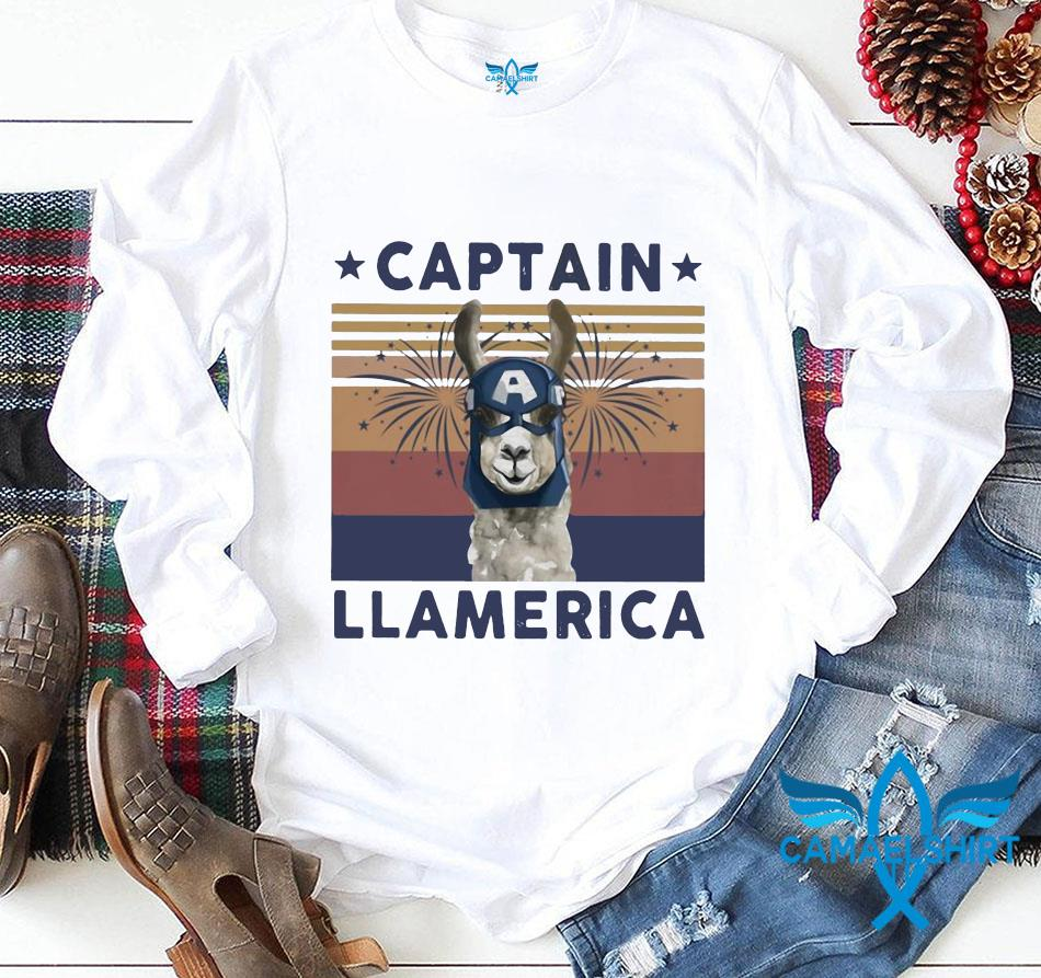 Captain Llamerica vintage July 4th t-s longsleeve