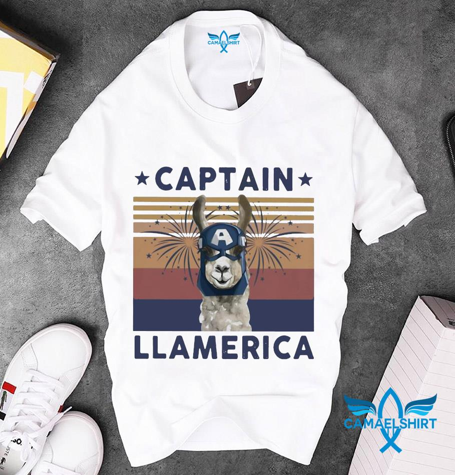 Captain Llamerica vintage July 4th t-shirt