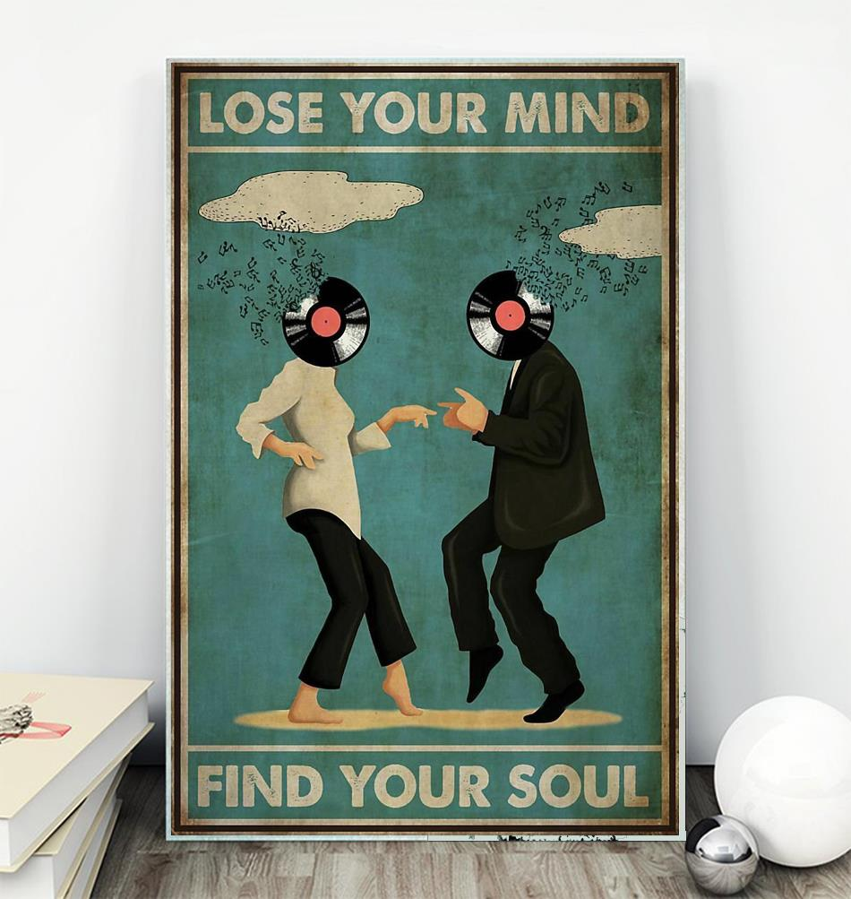 Mia Wallace and Vincent Vega dance lose your mind find your soul poster
