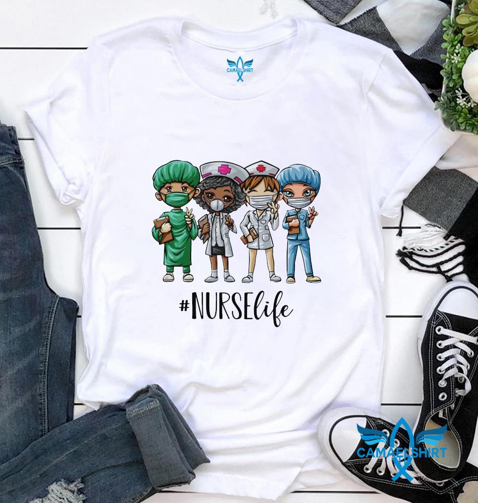 Nurse Life all skin colors t-shirt