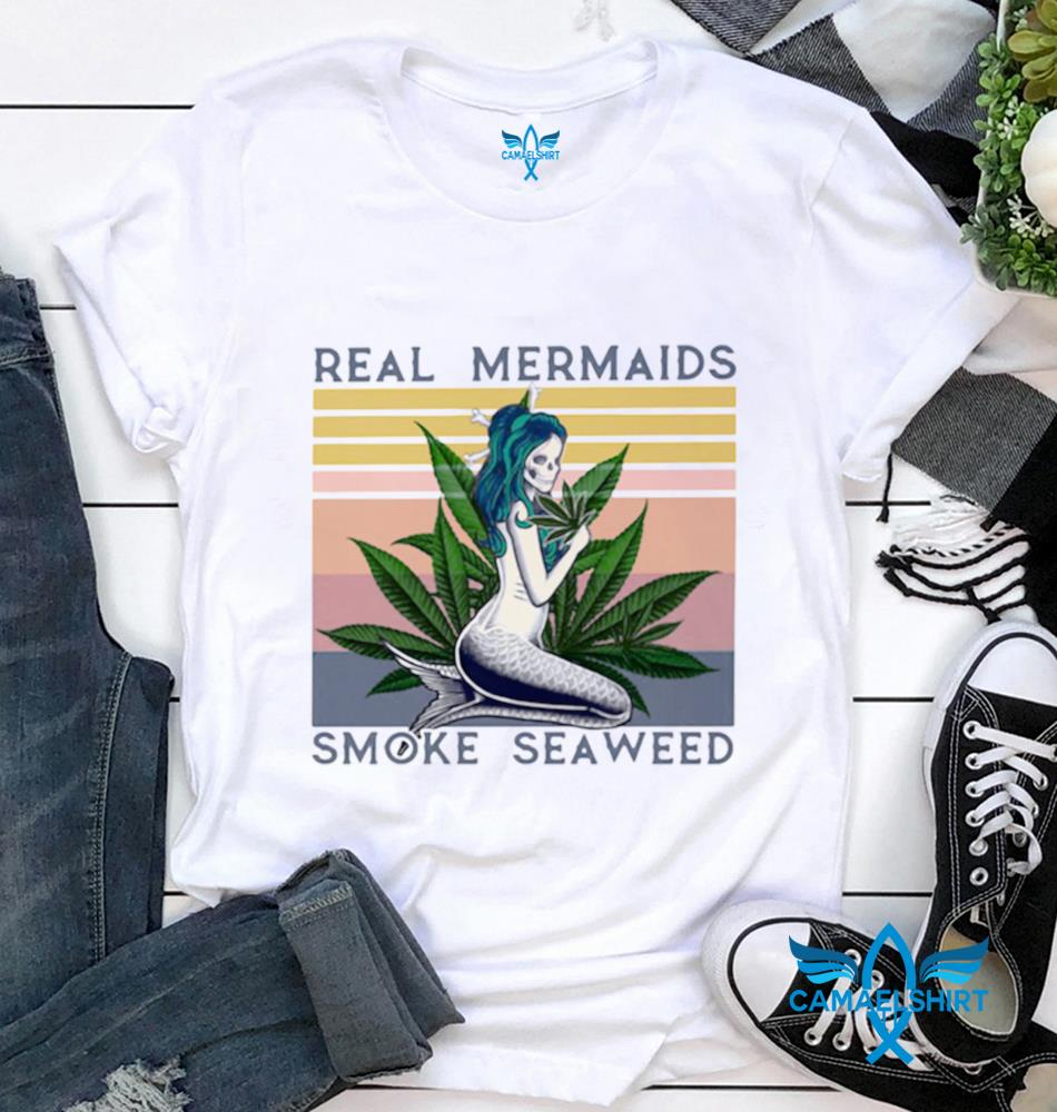 Real Mermaids smoke seaweed vintage retro t-shirt