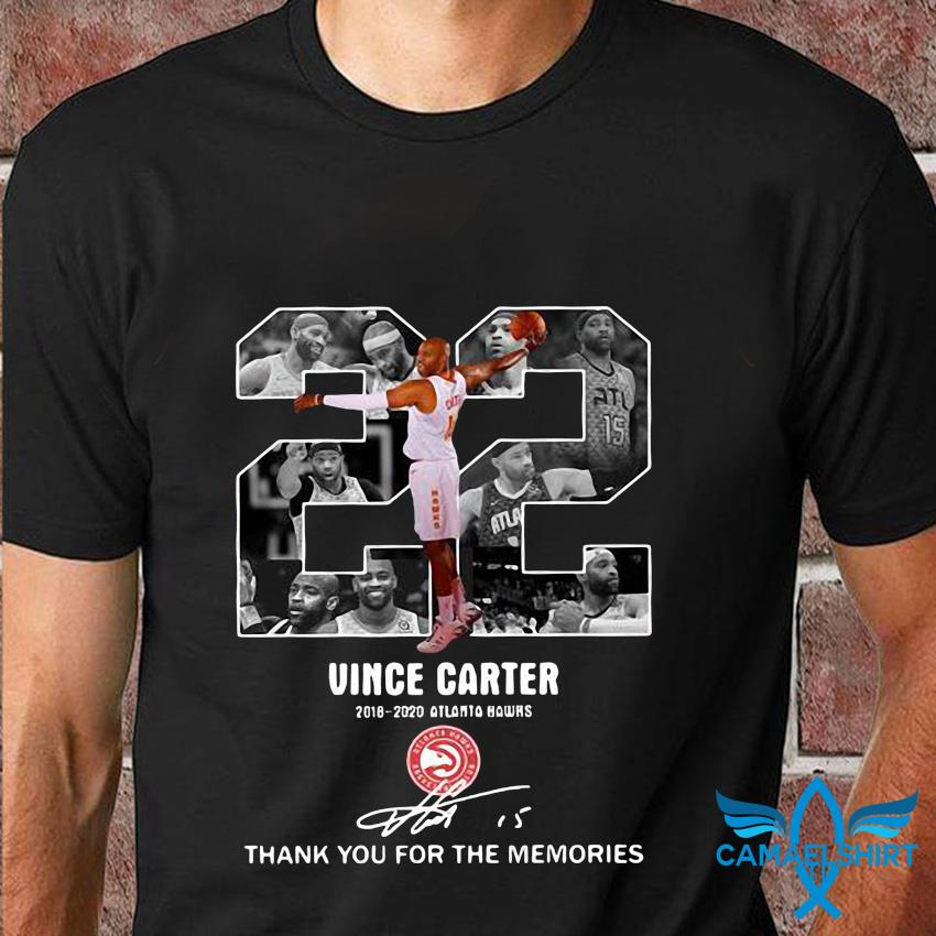 22 Vince Carter 2018-2020 Atlanta Hawks Memories t-shirt