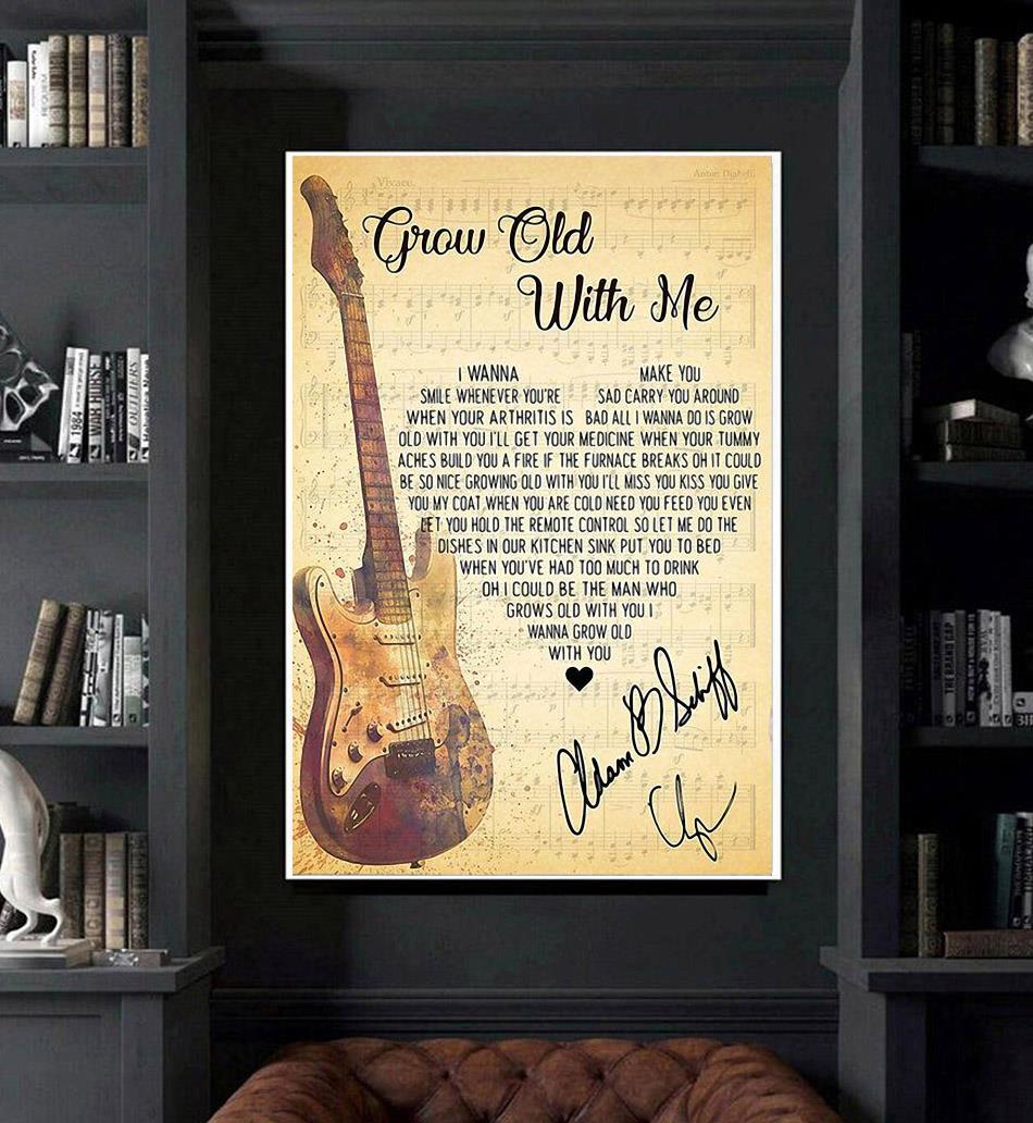 Adam Sandler grow old with me lyrics poster canvas