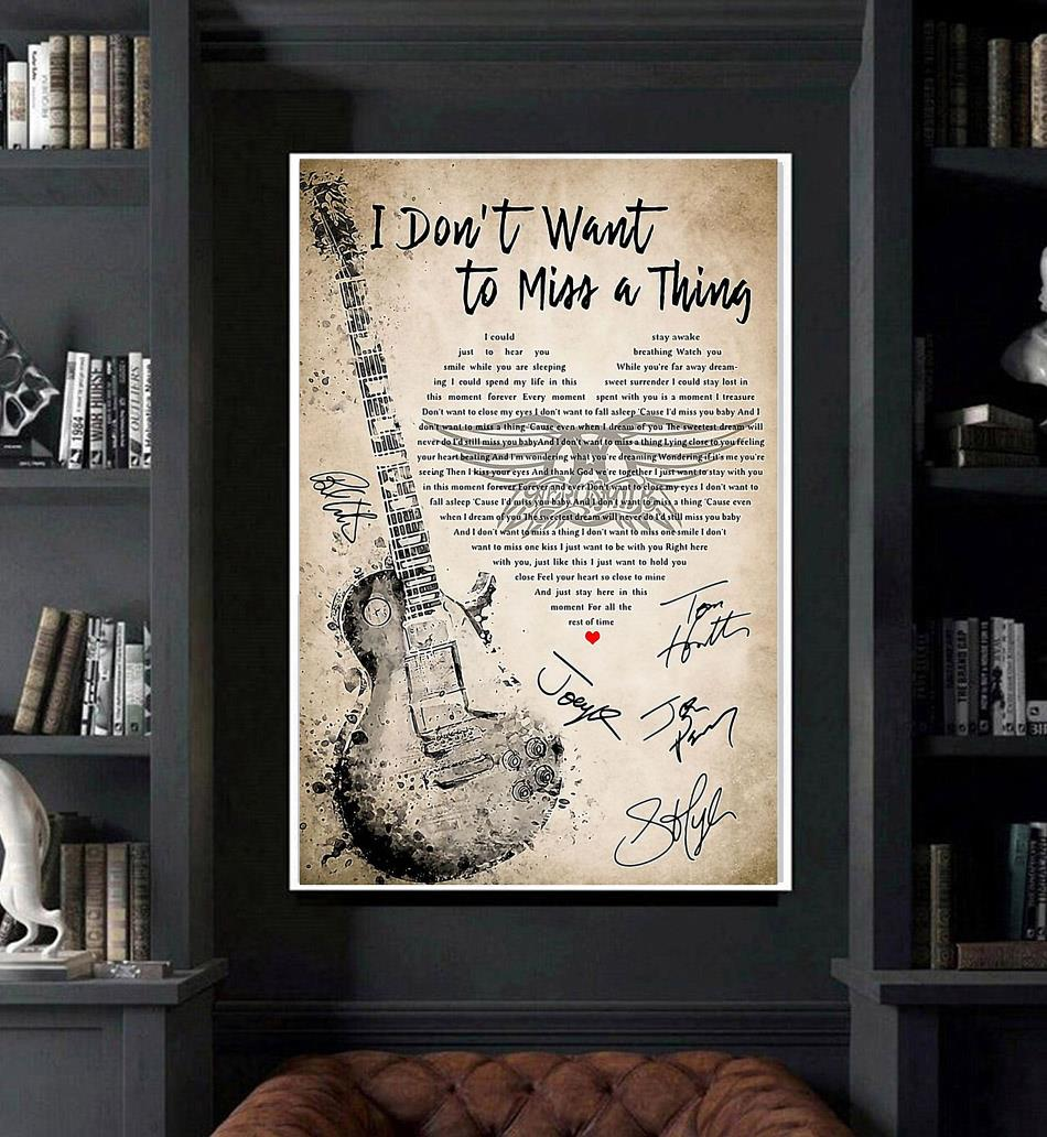 Aerosmith I dont want to miss a thing poster