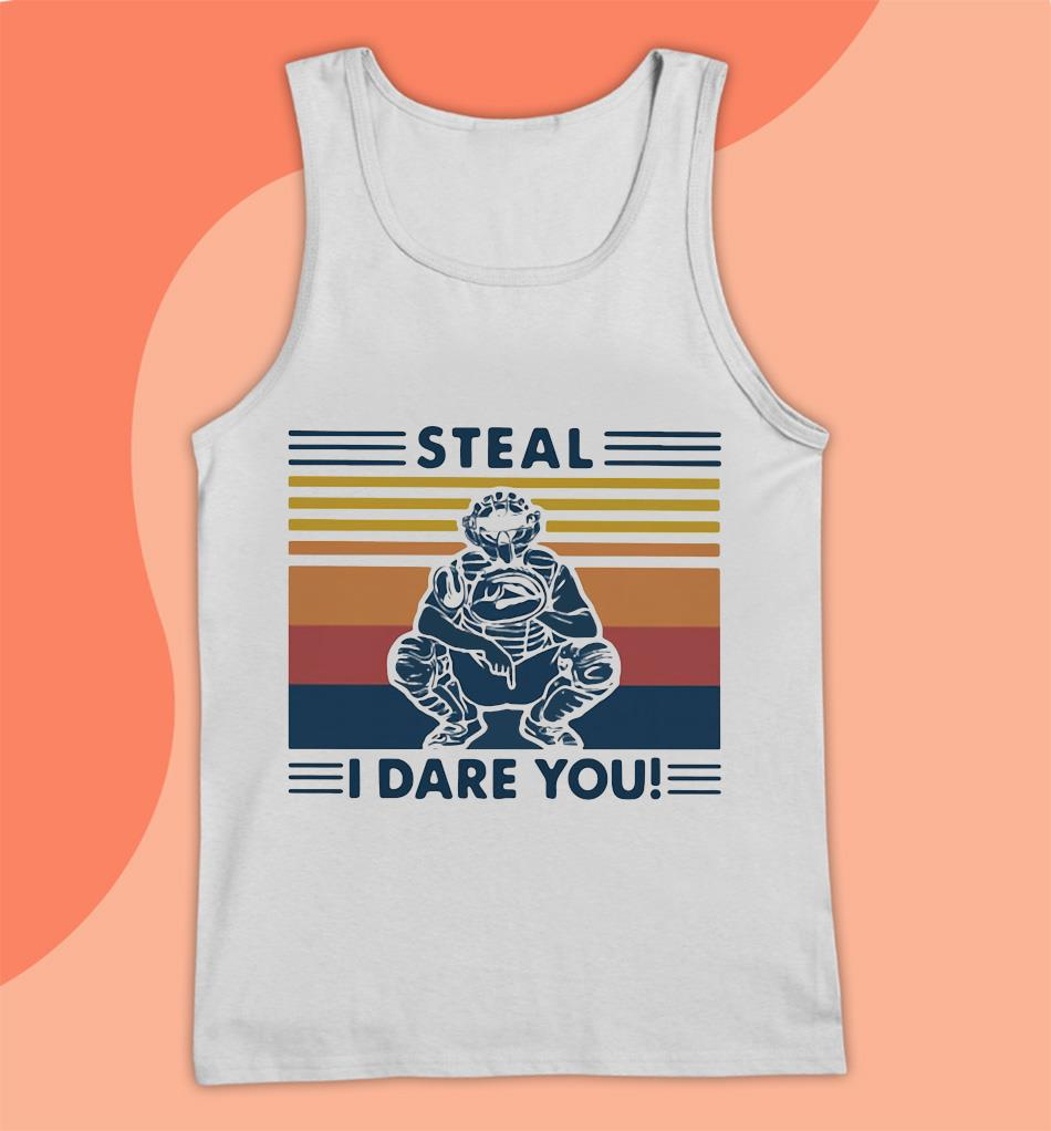 Baseball steal I dare you man vintage t-s Tank top