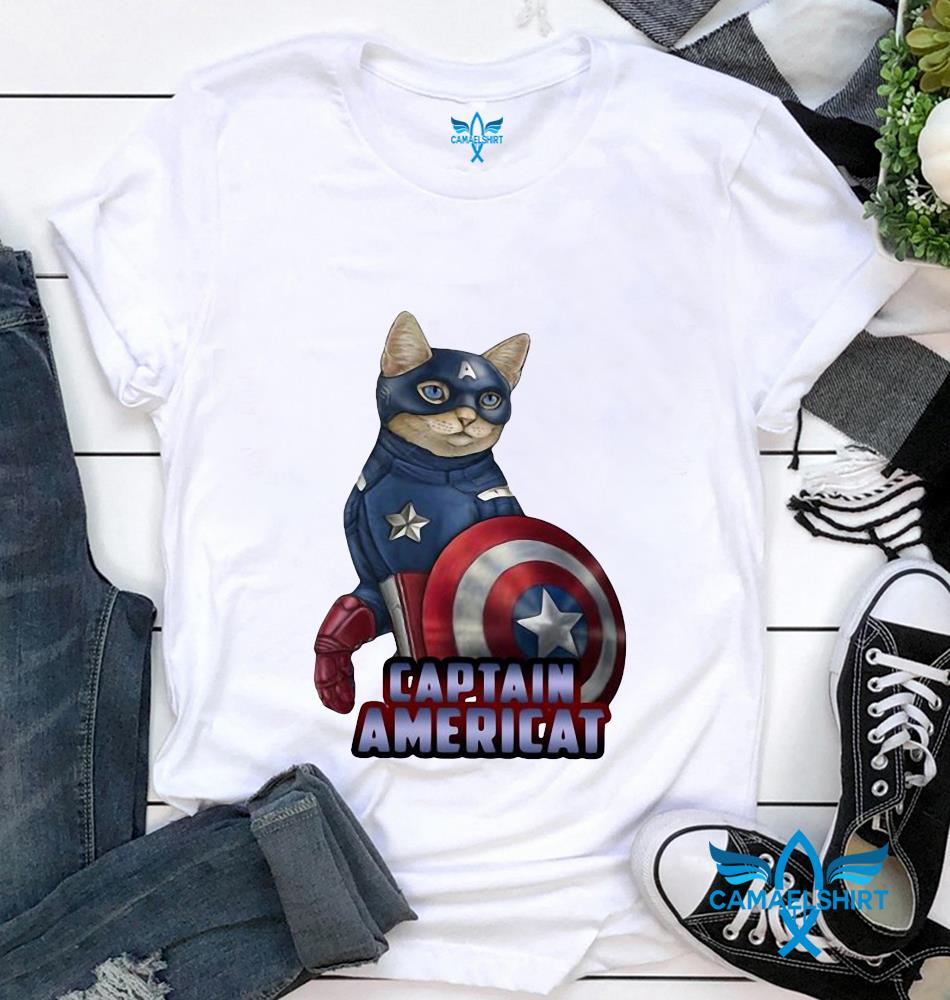 Cat Captain Americat Marvel t-shirt