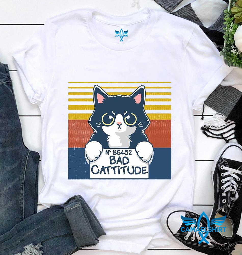 Cat N 86452 bad cattitude vintage t-shirt