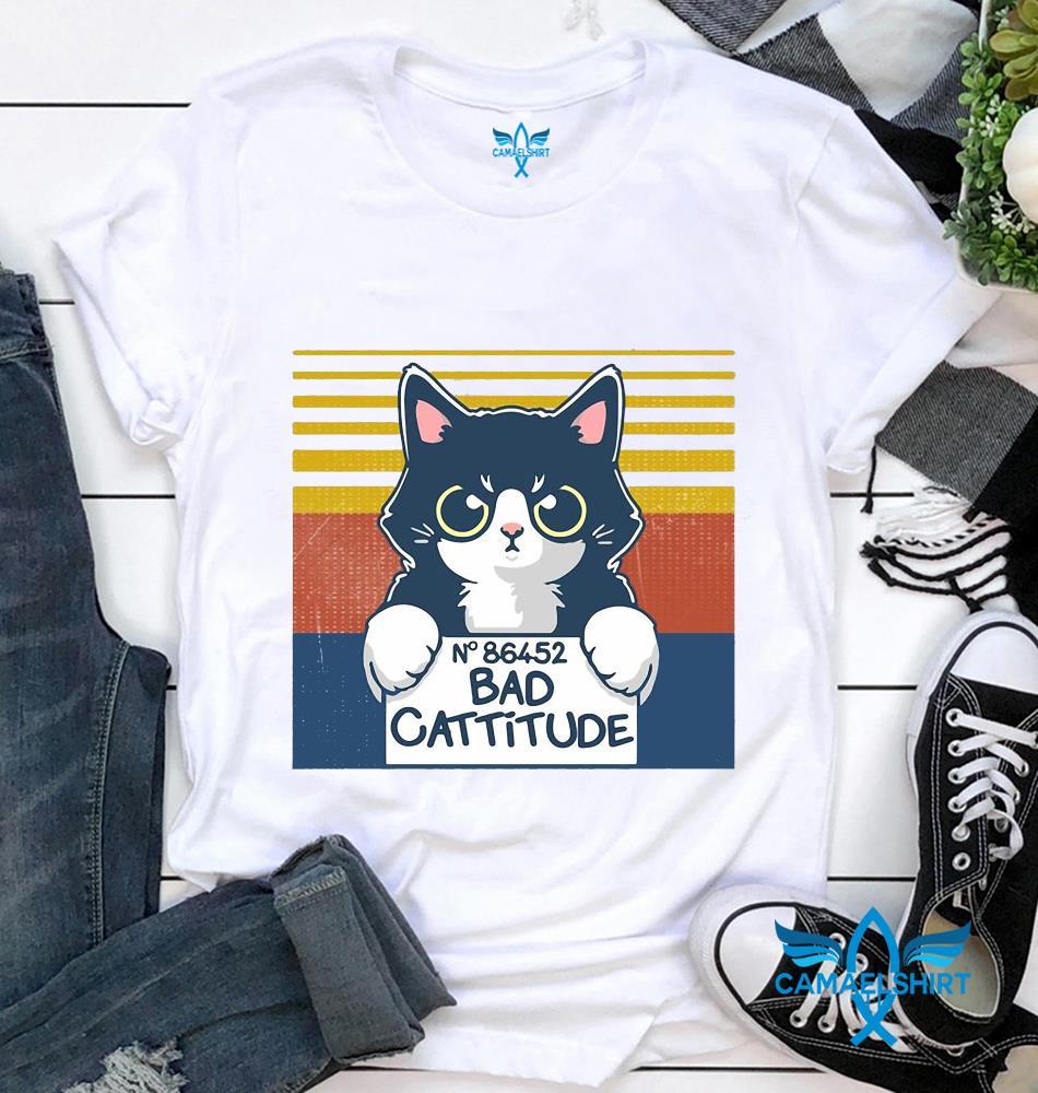 Cat N 86452 bad cattitude vintage t-shirt