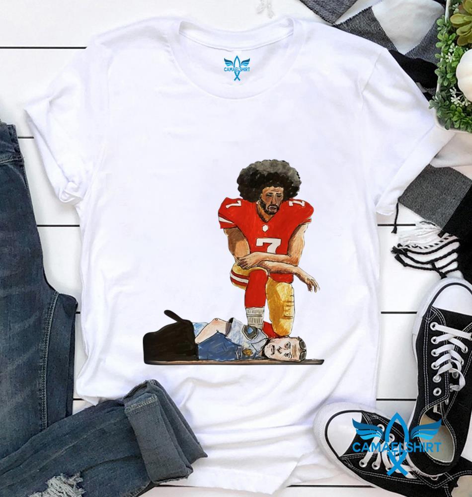 Colin Kaepernick kneeling justice for George Floyd t-shirt