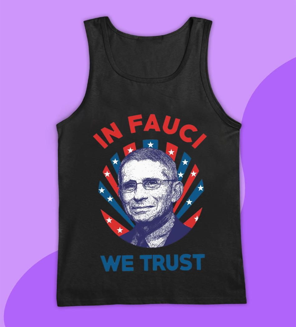 Dr Anthony in Fauci we trust American flag t-s tank top