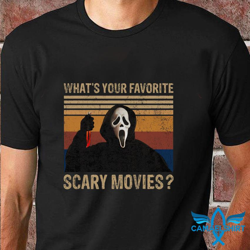 Ghostface whats your favorite scary movie vintage t-shirt