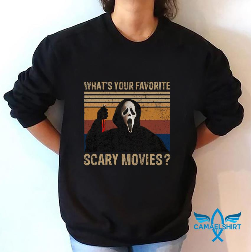 Ghostface whats your favorite scary movie vintage t-s sweatshirt