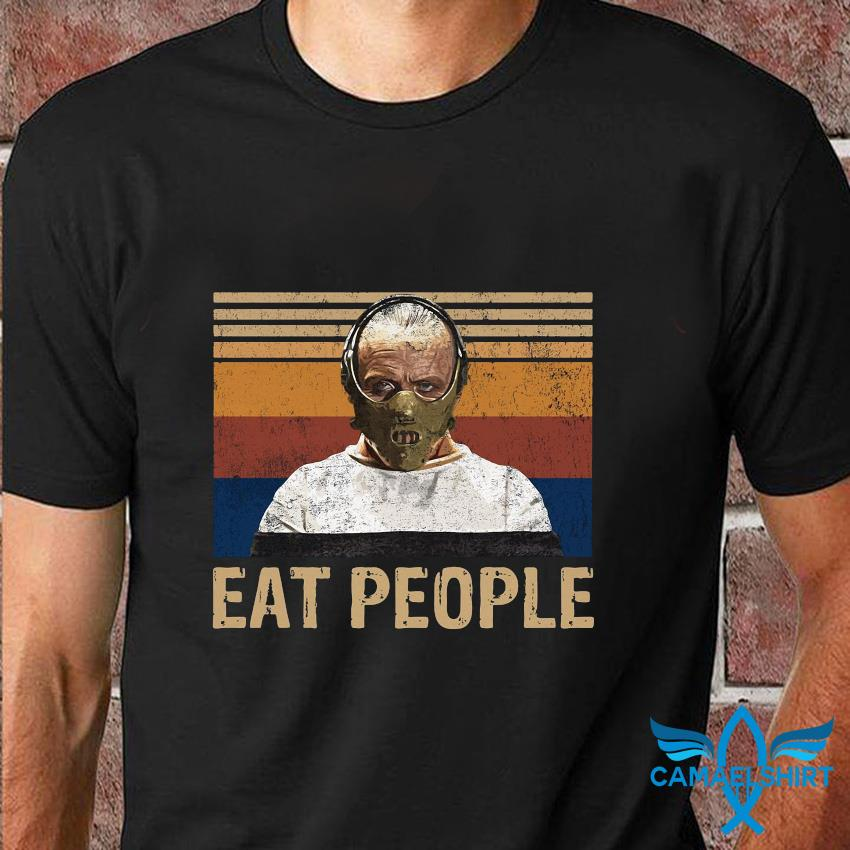 Hannibal Lecter eat people vintage t-shirt