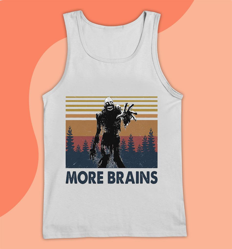 Horror Halloween more brains vintage t-s Tank top