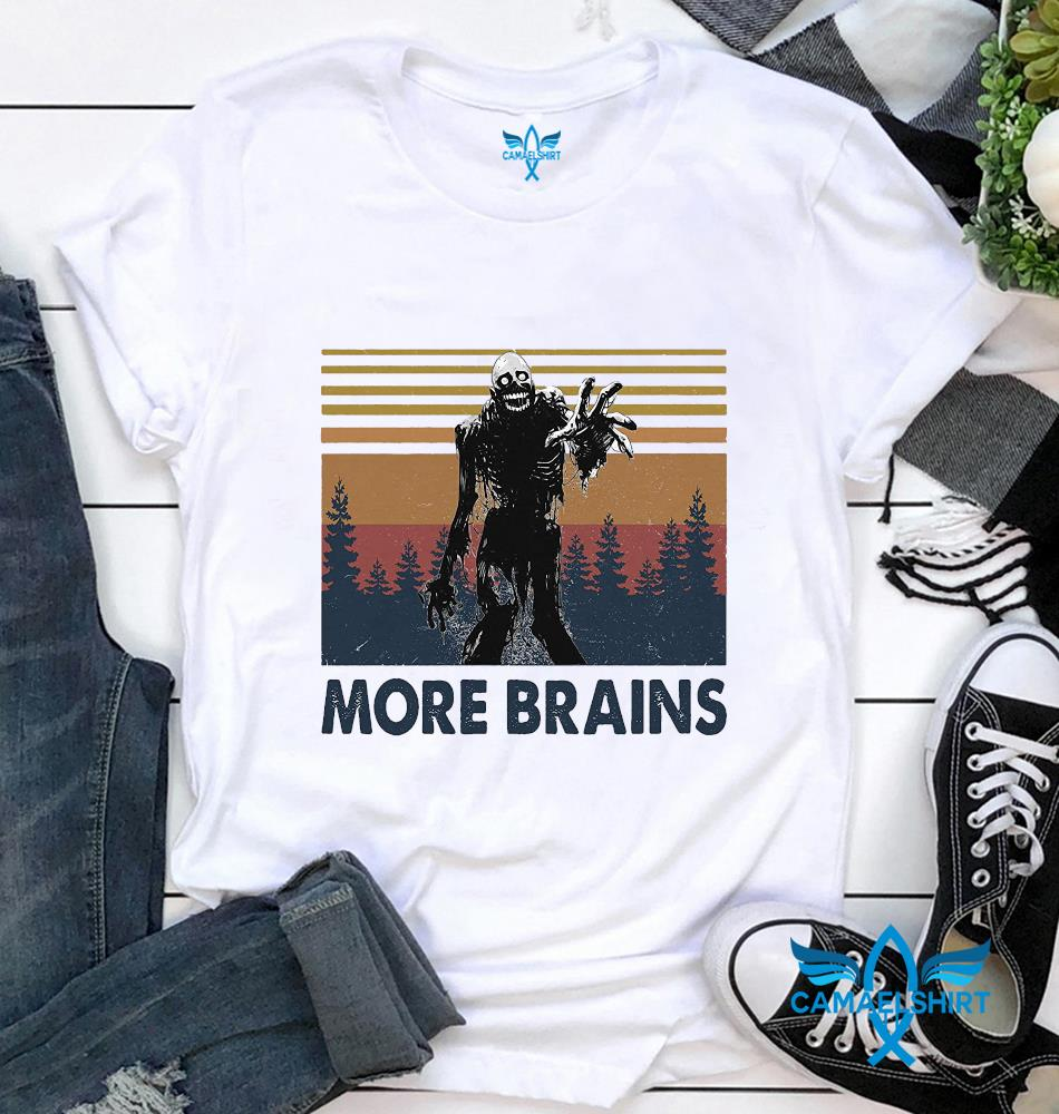 Horror Halloween more brains vintage t-shirt